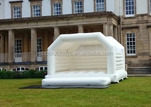 adult inflatble white Bounce house for wedding
