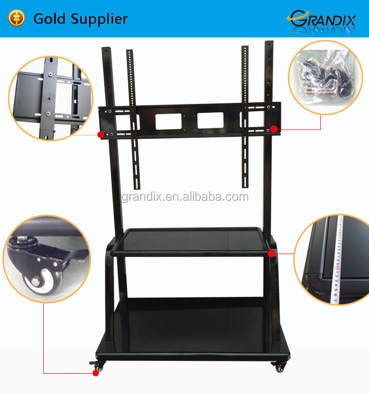 New design height adjustable dual screen LCD floor stand