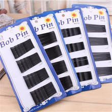 BSCI Audit Factory Wholesale Fashion Women Hair Grips Black Hair Bobby Pins For Girls Metal Hair Pin