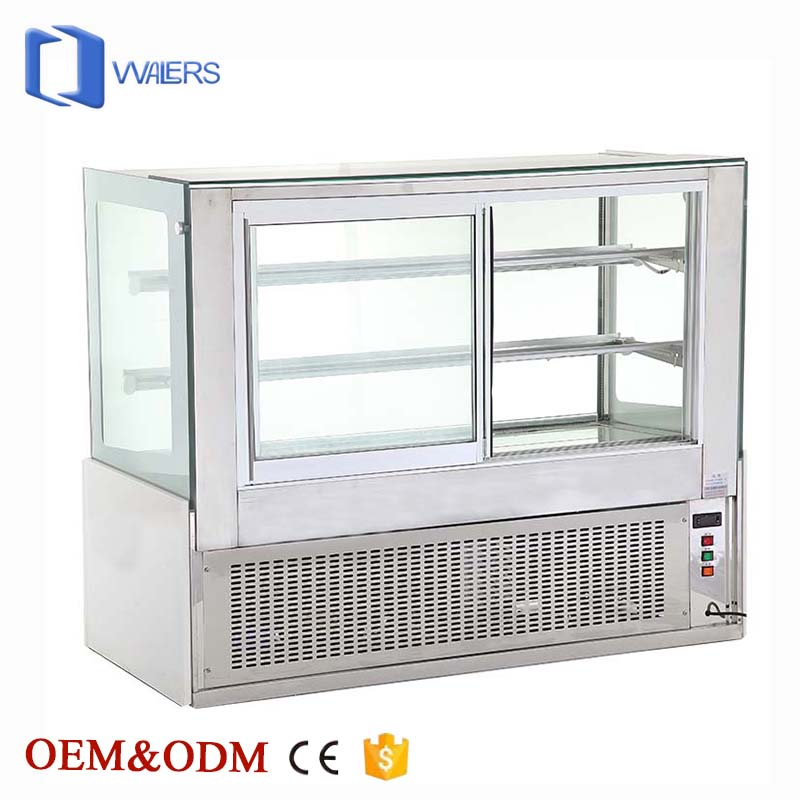 Upright White Luxury Commercial Marble Display Showcase Cake Refrigerator Cabinet With Anti-Fog Function