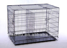 Double Door Dog Crates and cages stainless kennel