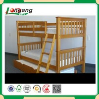 Solid Pine wood twin/double bunk bed twin bunk bed for adult