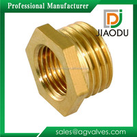 yuhuan manufacturer low price customized cnc parts brass hex pipe connector brass bush