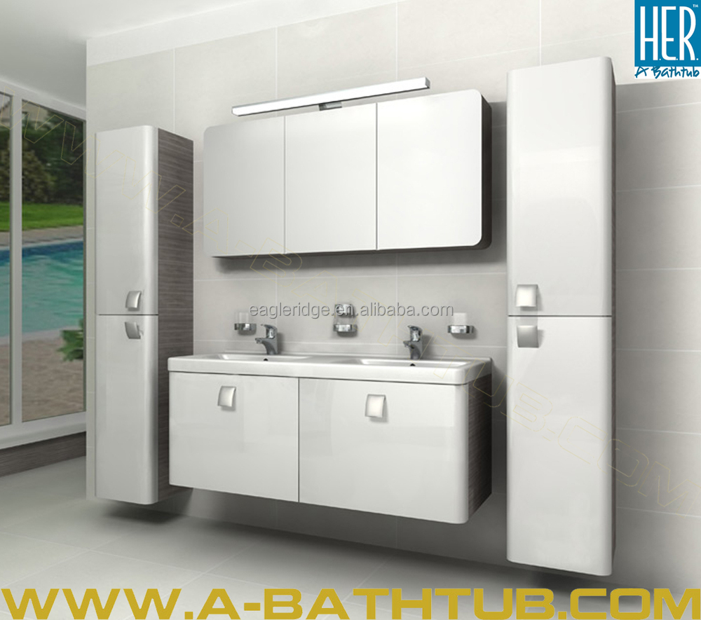 A bathtub factory made bathroom cabinet european style for European style bathroom