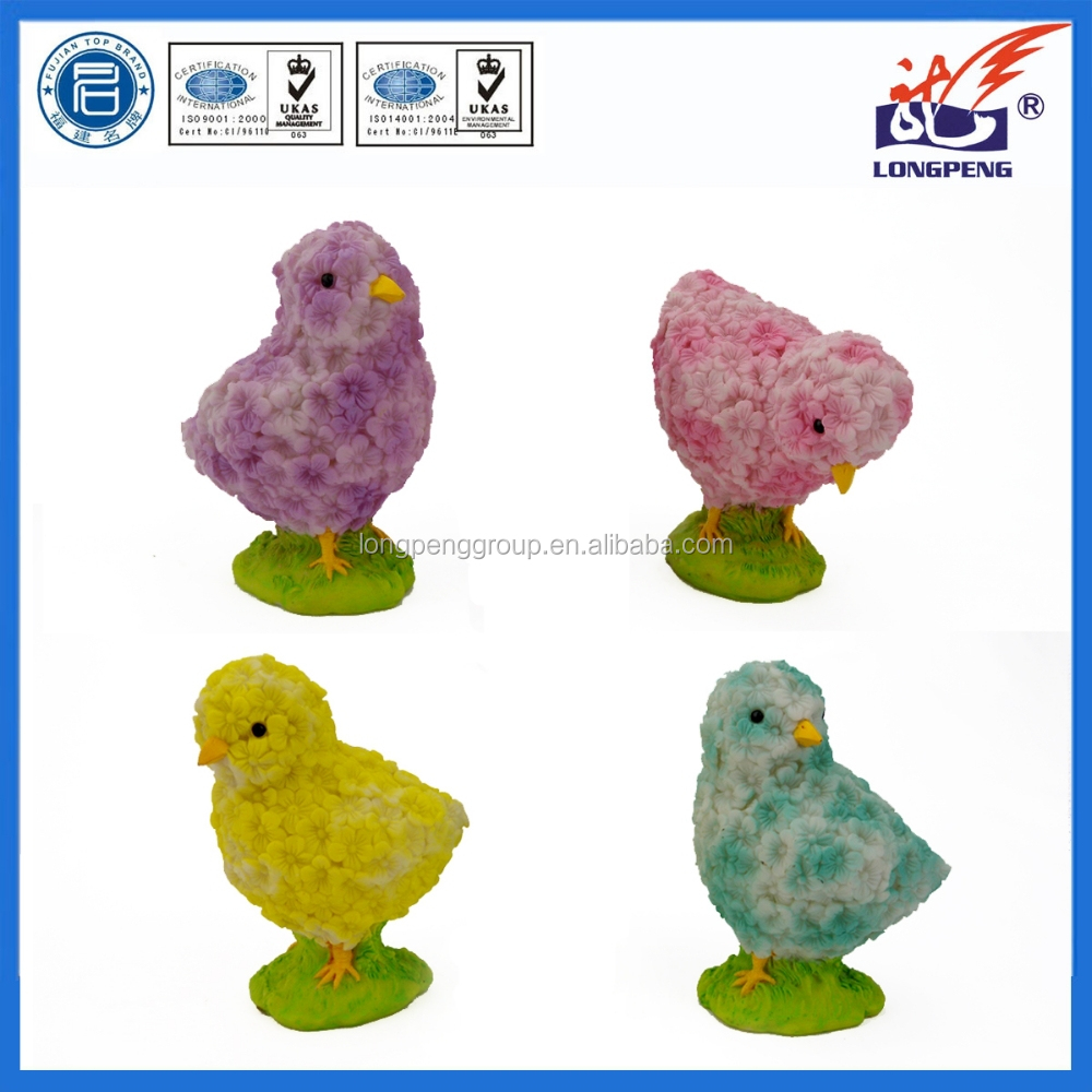 Easter Ornament Multicolor Resin Day Old Chicks (4 Pack),Easter Spring Chick Figures