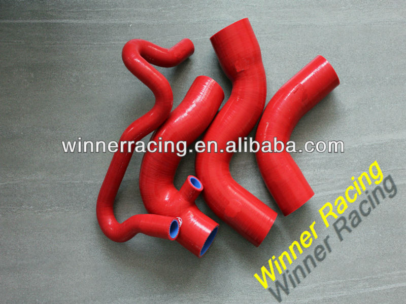 AUDI A4 1.8T/1800 TURBO VW PASSAT B5 Quattro SILICONE RADIATOR HOSE KIT 95-01 RED