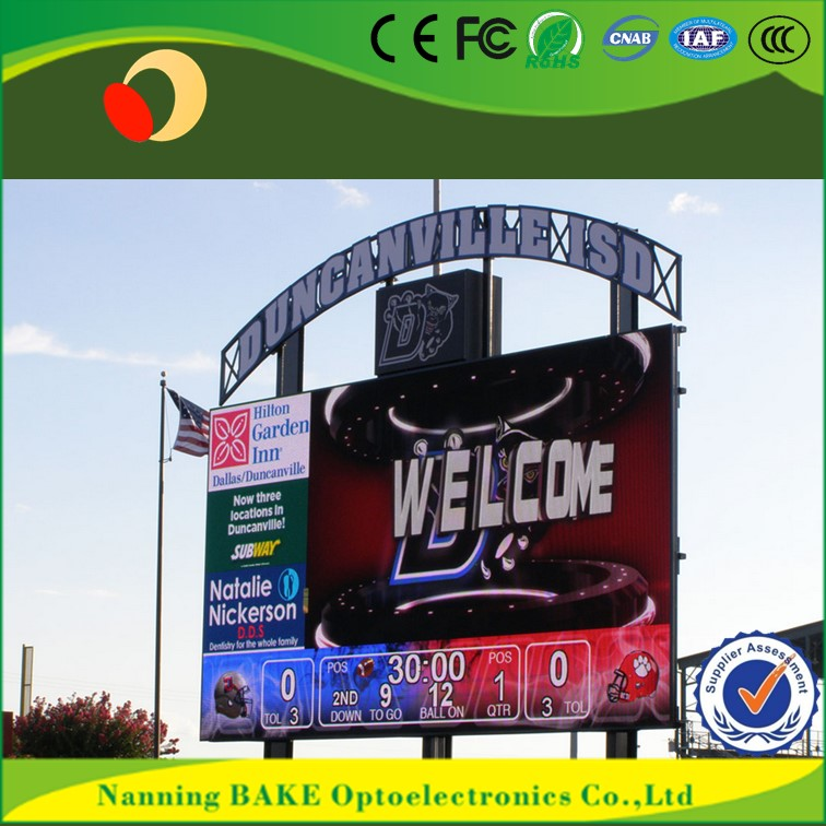P16 outdoor high brightness advertising led display electronic table tennis scoreboard
