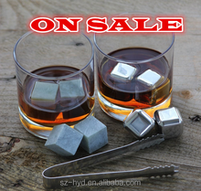 portable whiskey stone combo mix set ,wine chilling accessory set with soapstone for party use
