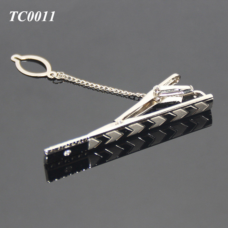 Wholesale Multi Styles Man Necktie Clip Bar Pin Practical Arrow Shape Metal Unique Tie Clip