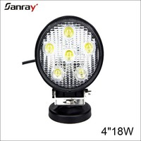 round 4 inch 18w super 4x4 off road lights,led driving light for farm machinery,industry equipment and car accessories