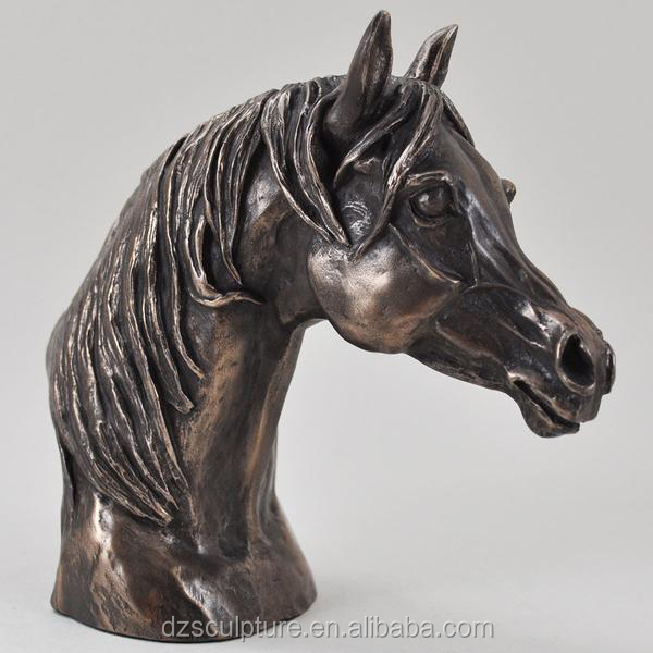 life size indoor decoration horse head bust sculpture for sale