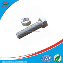 Natural color carbon steel bolt and nut/China supplier factory price bolts and nut