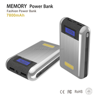 2014 New Design 100%10000Mah POWERBANK Portable Convenient Powerbank with LCD