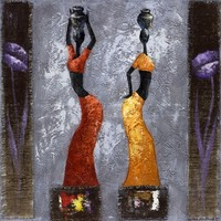 Hand made Abstract African American Art Paintings of Woman