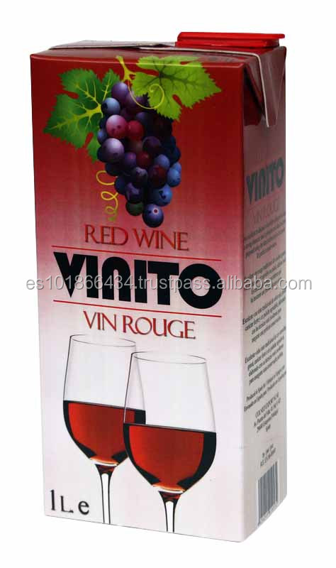 Spanish Red and White Wine in 1L carton / box with re-cap