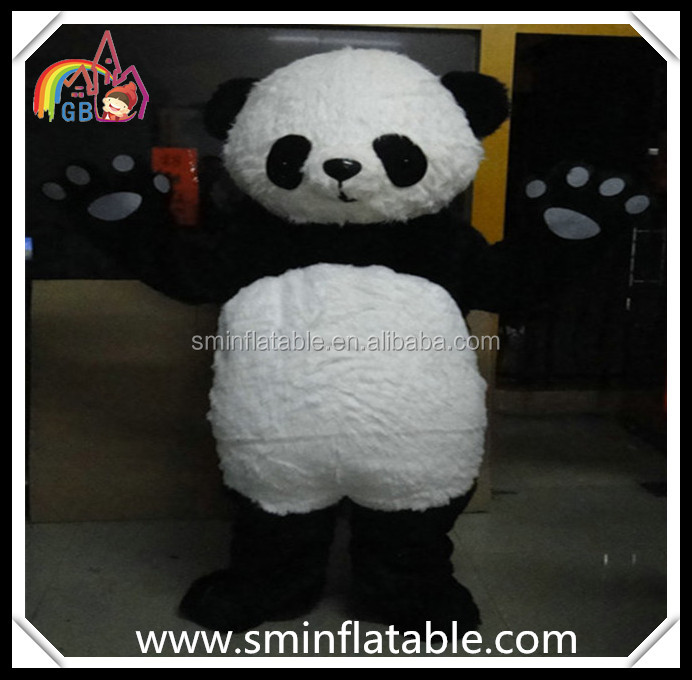 Hola panda mascot costume, plush cartoon cosplay costume