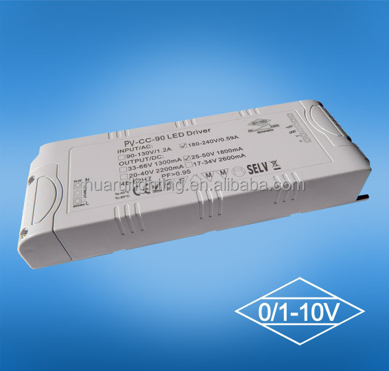 220V ac to 24v dc 0-10v dimmable led power supply 80w