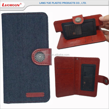Universal Denim leather cell phone case for Blu for vivo studio air life pure xl 5.5 6.0 7.0 8