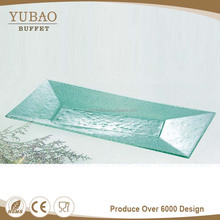 China Competitive Price Pyrex Glass Flat Plate, Rectangle Glass Cake Plate, Glass Plate Wedding For Hotel And Restaurant