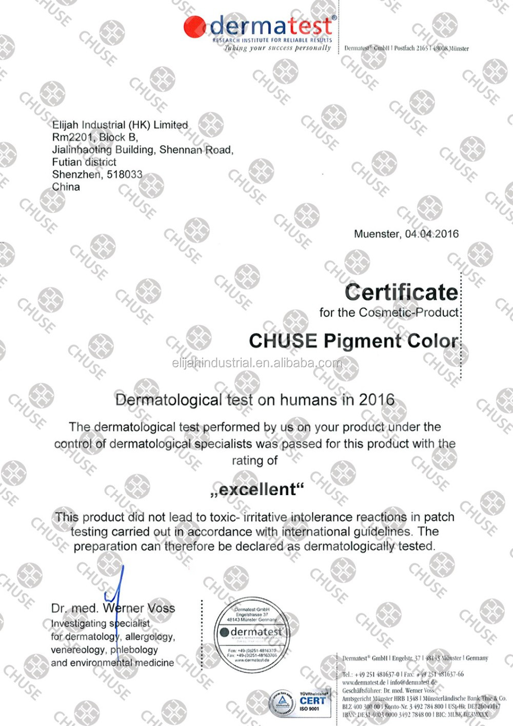 CHUSE C148 Jet Black Permanent Makeup Pigmentation Tattoo Ink