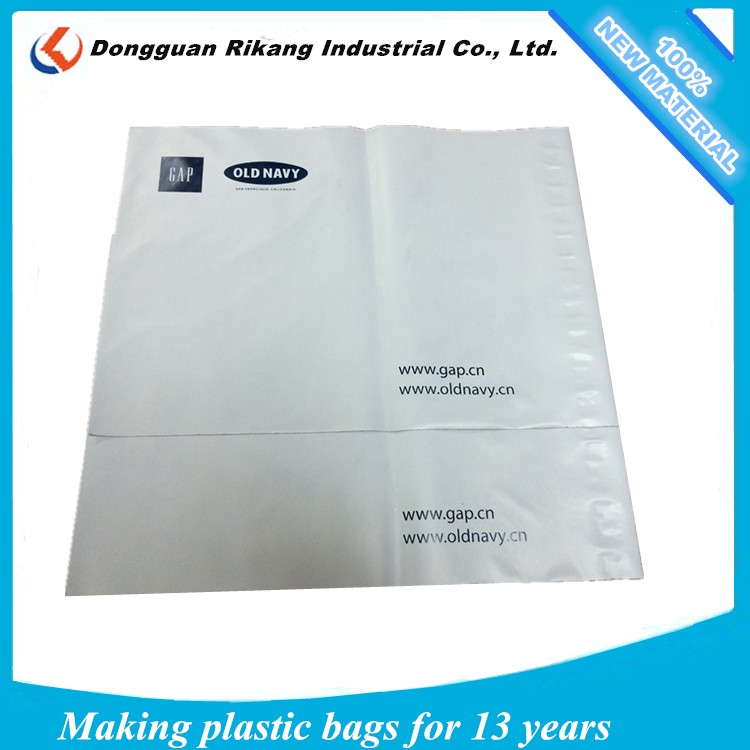 Eco-friendly plastic biodegradable courier pouch / poly express mailing bags