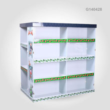 Promotional Book Shelf Rack Free Standing Cardboard Pallet Display for DVD/Books