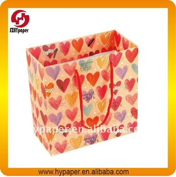high quality customized handle paper gift bag