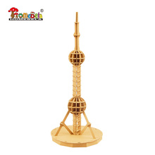 Architecture 3D model paper game The Oriental Pearl Radio & TV Tower 3D Puzzle