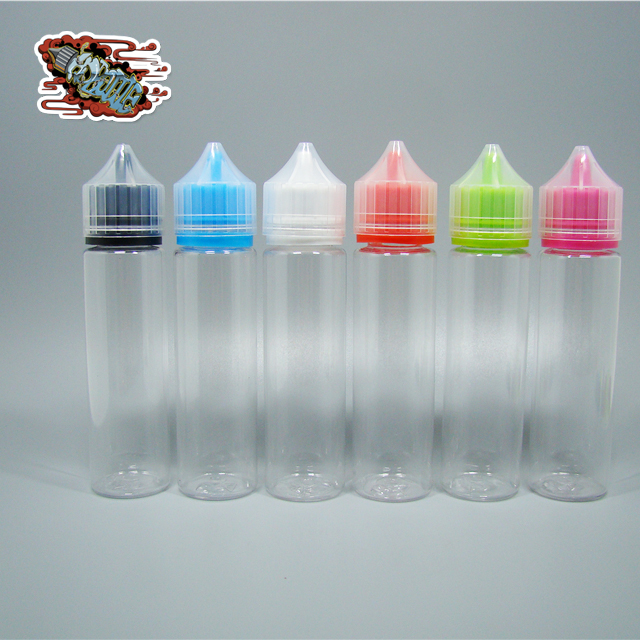 120ml wide mouth pet plastic chubby unicorn bottle for eliquids