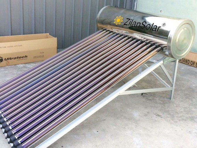 Inox pressurized solar heater water with Aluminum alloy frame fit for seaside places
