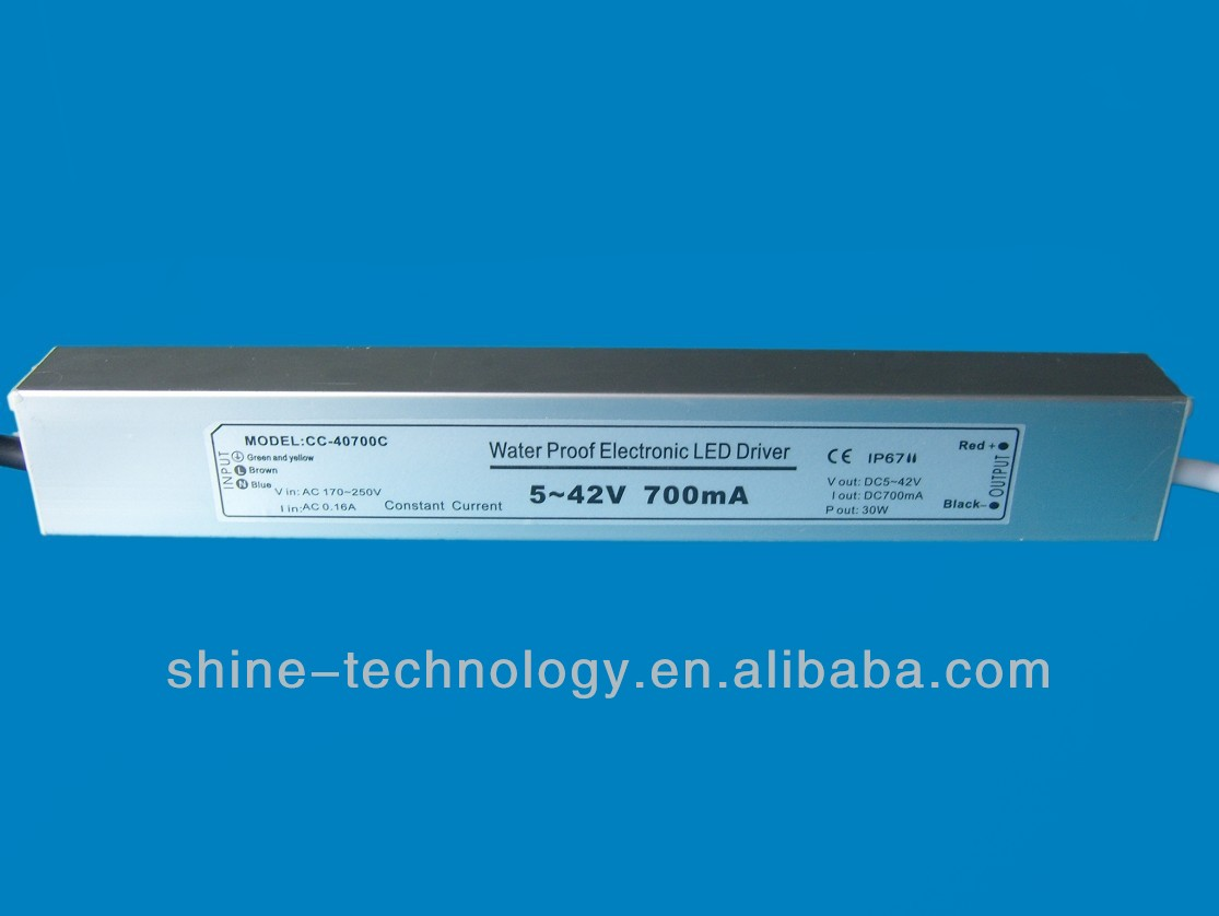 Constant Current Ce Certificate 700ma 30w Waterproof Led Driver,Shenzhen Shine-technology Co., Ltd.