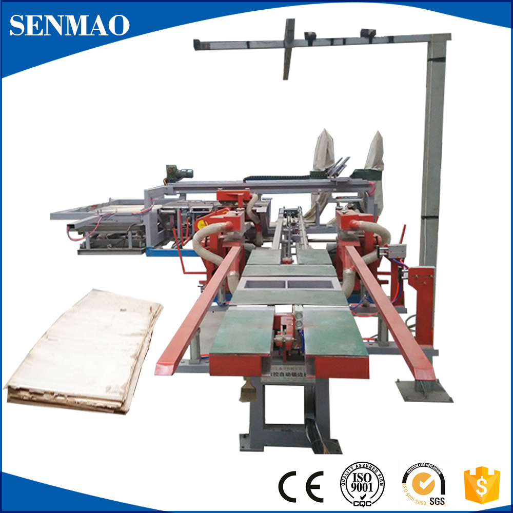 Automatic laminating board edge trimming saw wood cutting machine