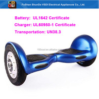 Safe self balance scooter hoverboard with remote controller bluetooth speaker LED light and UL1642 Certificate and UN 38.3