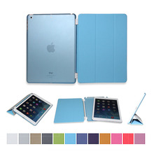 Factory cheap price for ipad air case PU and PC case for iPad air smart case cover