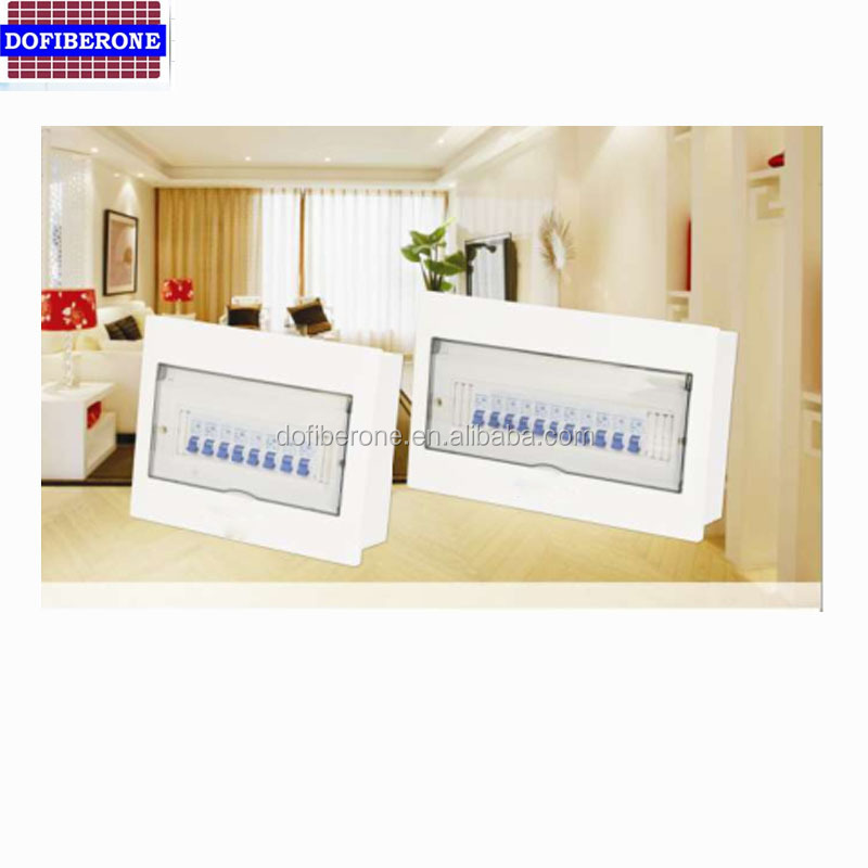 0.7mm metal base box lighting main mcb distribution board with luminous bar