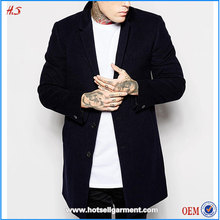 2015 Global hot sale high quality handsome boy wool blend winter coat overcoat men's clothing