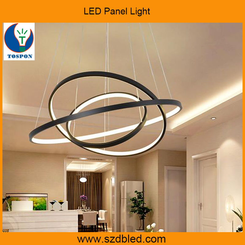 Modern hanging decorative circle ring acrylic LED indoor pendant light