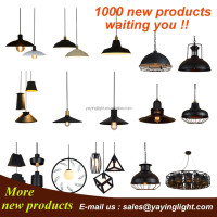 edison track lighting,iron wire pendant lamp,wireless remote control chandelier
