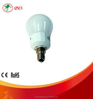 CE ROSH listed 7w energy-saving bulb light 2700K milky glass cover E14 bulb