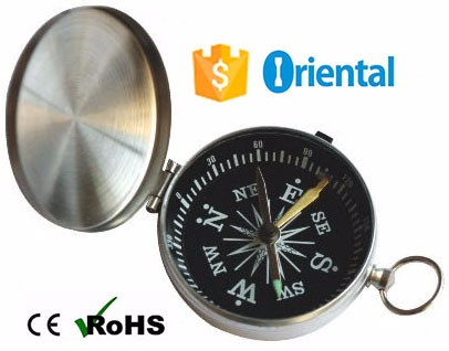 Free Sample Glass Cover Silver Compass Aluminum Raw Material,Keyring Gift Compass G452 Top Selling Products In Alibaba
