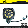 Winner of Koneviesti test 4.3'' square 27w led work light for tractors truck mining forestry automotive heavy duty construction