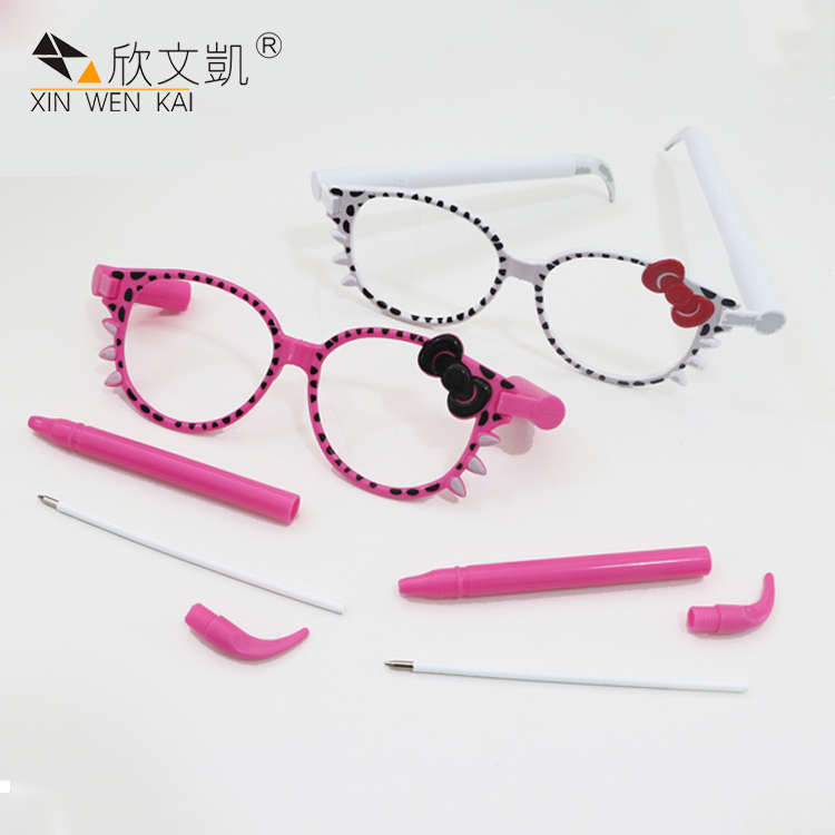 March Expo Wholesale New Model Novelty Cute Cartoon Plastic Glasses Pens For Kids