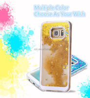 2016 TPU/PC glitter liquid case for samsung galaxy s5 case for samsung galaxy s3 s4 s5 s6 s6 edge note 2 3 4 j4 j5 j7