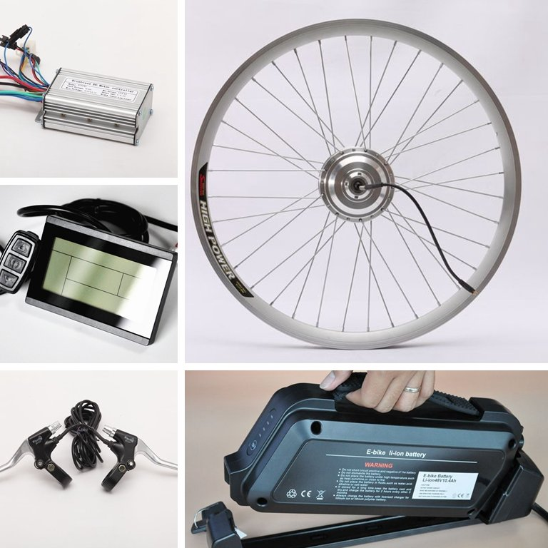 CE Approved Top Quality 250W,350W,500W,750W,1000W,1500W,3000W,5000W Electric Bike Kit with Optional Battery