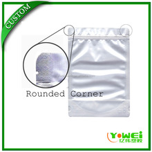 Aluminum foil matte finished stand up pouch with zip lock detergent packaging bag
