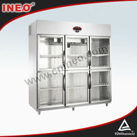 1550L triple door refrigerator showcase/upright showcase/showcase chiller