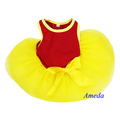 Red Yellow World Cup Football Flag Spain Dogs Pets Clothes Party Dress XS-L