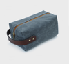 Custom high quality waxed canvas travel toiletry bag waterproof lining