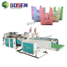 Hot Sale Fully Automatic High Speed 500-700pcs/min T-shirt HDPE Plastic FIlm Vest T shirt Bag Making Machine