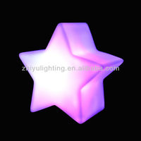 LED Star night light, holiday colorful plastic lamp